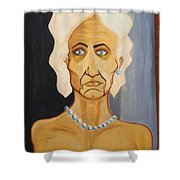 Portrait Of An Old Woman Shower Curtain