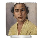 Portrait Of An Oriental Shower Curtain