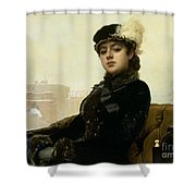 Portrait Of An Unknown Woman Shower Curtain