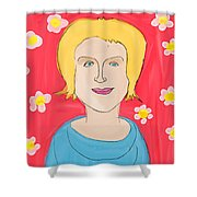 Portrait Of Ania Shower Curtain