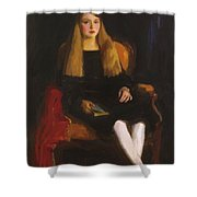 Portrait Of Anne M Tucker 1926 Shower Curtain