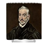 Portrait Of Antonio De Covarrubias Shower Curtain