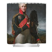 Portrait Of Arkady Alexandrovich Suvorov Shower Curtain