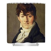 Portrait Of Auguste Francois Talma Ensign Nephew Of The Tragedian Talma Shower Curtain