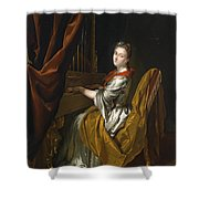 Portrait Of Barbara Janssens At The Organ Shower Curtain