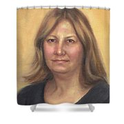Portrait Of Birdie Shower Curtain