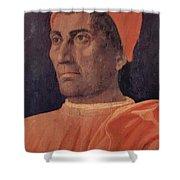 Portrait Of Cardinal Carlo De Medici 1466 Shower Curtain