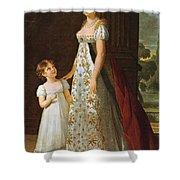 Portrait Of Caroline Murat With Her Daughter Shower Curtain