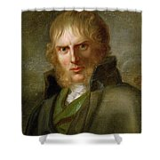 portrait of Caspar David Friedrich Shower Curtain