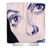 Portrait Of Catherine Close Up Details Shower Curtain