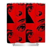 Portrait Of Catherine Pop Art Design Shower Curtain