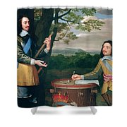 Portrait Of Charles I And Sir Edward Walker Shower Curtain