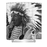 Portrait Of Chief Red Cloud Shower Curtain