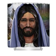 Portrait Of Christ Shower Curtain