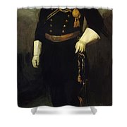 Portrait Of Colonel David Perry 9th U Cavalry 1907 Shower Curtain