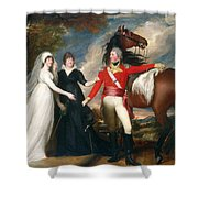 Portrait Of Colonel Fitch And His Sisters Shower Curtain