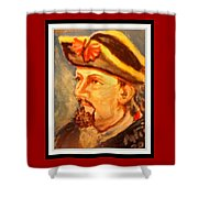Portrait Of Conrad As British Soldier Shower Curtain