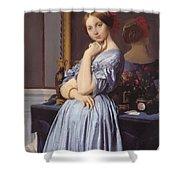 Portrait Of Countess D Haussonville Shower Curtain