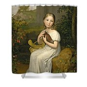 Portrait Of Countess Louise Bose As A Child Shower Curtain