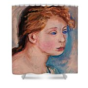 Portrait Of  Country Girl Shower Curtain