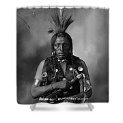 Portrait Of Cree Indian Shower Curtain
