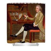 Portrait Of David Baldwin 1790 Shower Curtain