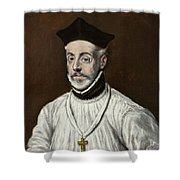 Portrait Of Diego De Covarrubias Y Leiva Shower Curtain