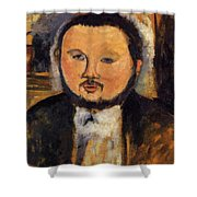 Portrait Of Diego Rivera 1914 Shower Curtain