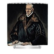 Portrait Of Dr. Francisco De Pisa Shower Curtain
