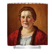 Portrait Of Ekaterina Ivanovna Kogan Shower Curtain