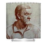 Portrait Of Elderly Man Shower Curtain