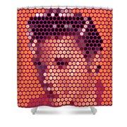 Portrait Of Elvis Presley  Shower Curtain