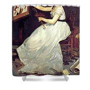 Portrait Of Eva Gonzales 1870 Shower Curtain