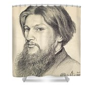 Portrait Of Ford Madox Brown Shower Curtain