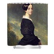 Portrait Of Francisca Caroline De Braganca Shower Curtain by Franz Xaver Winterhalter