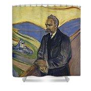 Portrait Of Friedrich Nietzsche Shower Curtain
