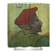 Portrait Of Gauguin Arles December 1888 Vincent Van Gogh 1853  1890 Shower Curtain
