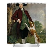 Portrait Of George Venables Vernon Shower Curtain by Thomas Gainsborough