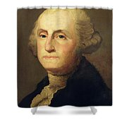 Portrait Of George Washington Shower Curtain