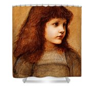 Portrait Of Gertie Lewis Shower Curtain