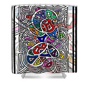 Portrait Of Giggling Colors Shower Curtain