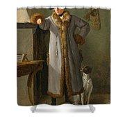 Portrait Of Gottlieb Christian Heigelen As A Hunter Shower Curtain
