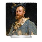 Portrait Of Gustave Courtois Shower Curtain