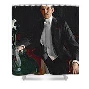 Portrait Of Harald Bildt Shower Curtain