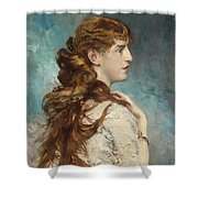 Portrait Of Harriet Valentine Shower Curtain