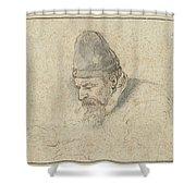 Portrait Of Henry Avercamp Shower Curtain
