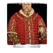 Portrait Of Henry Viii Shower Curtain by Hans Holbein the Younger