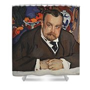 Portrait Of Ivan Morozov 1910 Valentin Serov Shower Curtain