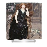 Portrait Of Jane Hading , Alfred Roll Shower Curtain