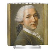 Portrait Of Jean Claude Gaspard Shower Curtain